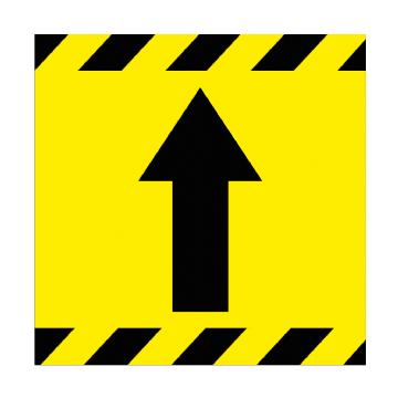 Directional Arrow - FORWARD - 350mm Square